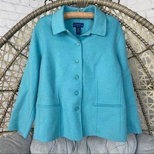 Charter Club Wool Jacket/ Coat - Light Blue